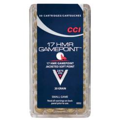 CCI17 HMR GamePoint JSP 20gr JacketedSoftPoint
