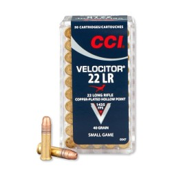 CCI .22 LR Velocitor CPHP 40gr