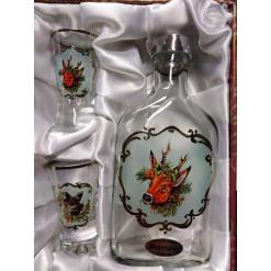Jagerglass szett laposüveg 200ml + 2db fernetes pohár 30ml