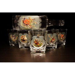 Jagerglass whiskey szett Flaska + 6db 300ml pohár